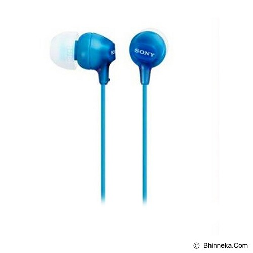 SONY Earphone [MDR-EX15 AP] - Blue - Earphone Ear Monitor / Iem